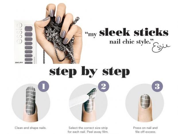Essie Sleek Stick Spring 2013 Nail Wrap Collection-4
